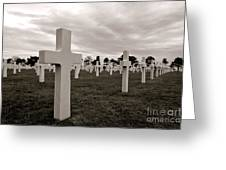 American Cemetery In Normandy  Greeting Card