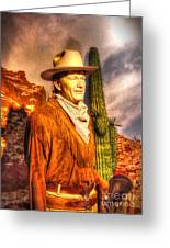 American Cinema Icons - The Duke Greeting Card