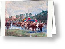American Civil War Fugitive Negroes Fording Rappahannock Greeting Card