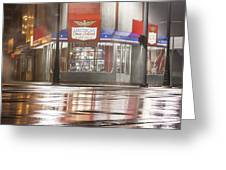 American Coney In Detroit At Night Greeting Card