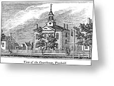 American Courthouse, 1844 Greeting Card