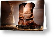 American Cowboy Boots Greeting Card