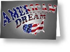American Dream Digital Typography Artwork Greeting Card