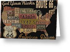 American Dream-route 66 Greeting Card