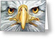 American Eagle - Bald Eagle By Betty Cummings Greeting Card by Sharon Cummings
