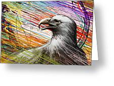 American Eagle Greeting Card by Bedros Awak