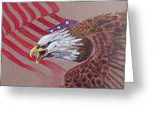American Eagle Greeting Card by Jean Ann Curry Hess