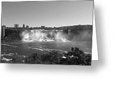 American Falls - Autumn - B N W Greeting Card