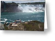 American Falls From Above The Maid Greeting Card