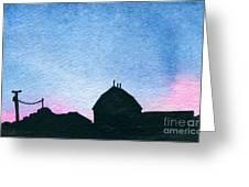 American Farm #1 Silhouette Greeting Card