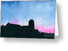American Farm #2 Silhouette Greeting Card