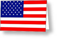American Flag . Square Greeting Card