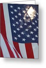 American Flag - 01131 Greeting Card