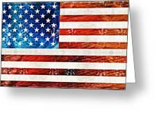 American Flag Art - Old Glory - By Sharon Cummings Greeting Card