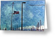 American Flag As A Painting Greeting Card