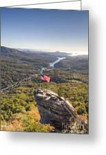 American Flag At Chimney Rock State Park North Carolina Greeting Card