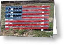American Flag Country Style Greeting Card