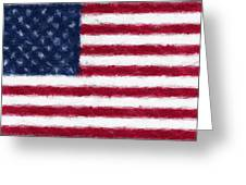 American Flag Embossed Greeting Card