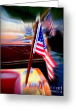 American Flag Focus Greeting Card