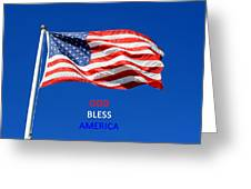 American Flag - God Bless America Greeting Card