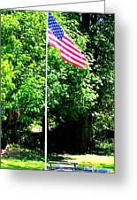 American Flag - Honoring John Greeting Card by Tap On Photo