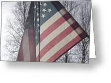 American Flag Greeting Card by Jennifer Kimberly