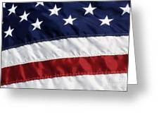 American Flag Greeting Card by Jill Lang