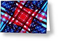 American Flag Kaleidoscope Greeting Card