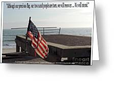 American Flag Greeting Card by Laurence Oliver