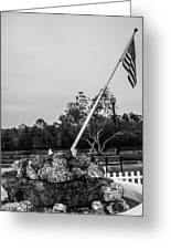 American Flag Monument Greeting Card