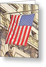 American Flag N.y.c 1 Greeting Card