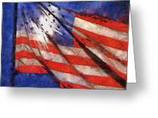American Flag Photo Art 02 Greeting Card