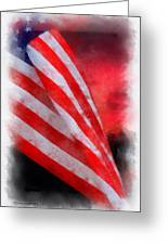 American Flag Photo Art 07 Greeting Card