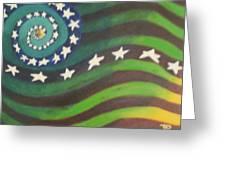 American Flag Reprise Greeting Card