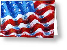 American Flag Greeting Card by Venus