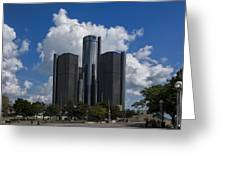 The Detroit Renaissance Center  Greeting Card