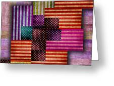 American Flags Greeting Card by Tony Rubino