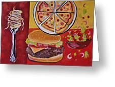 American Food Pop Art Greeting Card