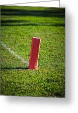 American Football Field Marker Greeting Card