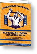 American Football National Bowl Poster Art Greeting Card by Aloysius Patrimonio