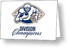 American Football Runningback Division Champions Greeting Card by Aloysius Patrimonio