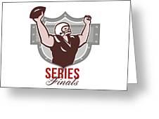 American Football Series Finals Retro Greeting Card