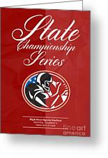 American Football State Championship Series Poster Greeting Card