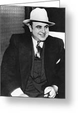 American Gangster Al Capone Greeting Card