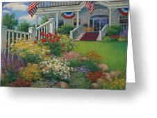 American Garden Greeting Card by Sharon Will
