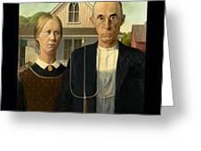 American Gothic Duvet Greeting Card