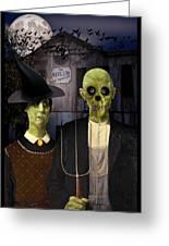 American Gothic Halloween Greeting Card