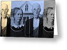 American Gothic In Colors Greeting Card