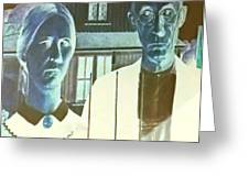 American Gothic In Negative Greeting Card