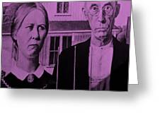 American Gothic In Pink Greeting Card
